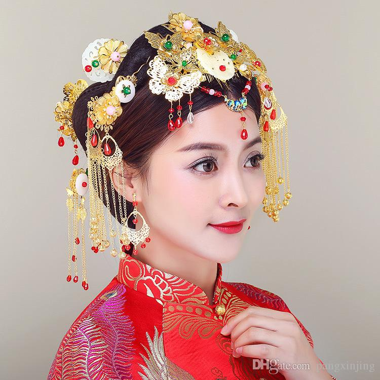 Bridal accessories, bridal headwear, dress, cheongsam, hair plate, wedding dress, Chinese costume thirteen