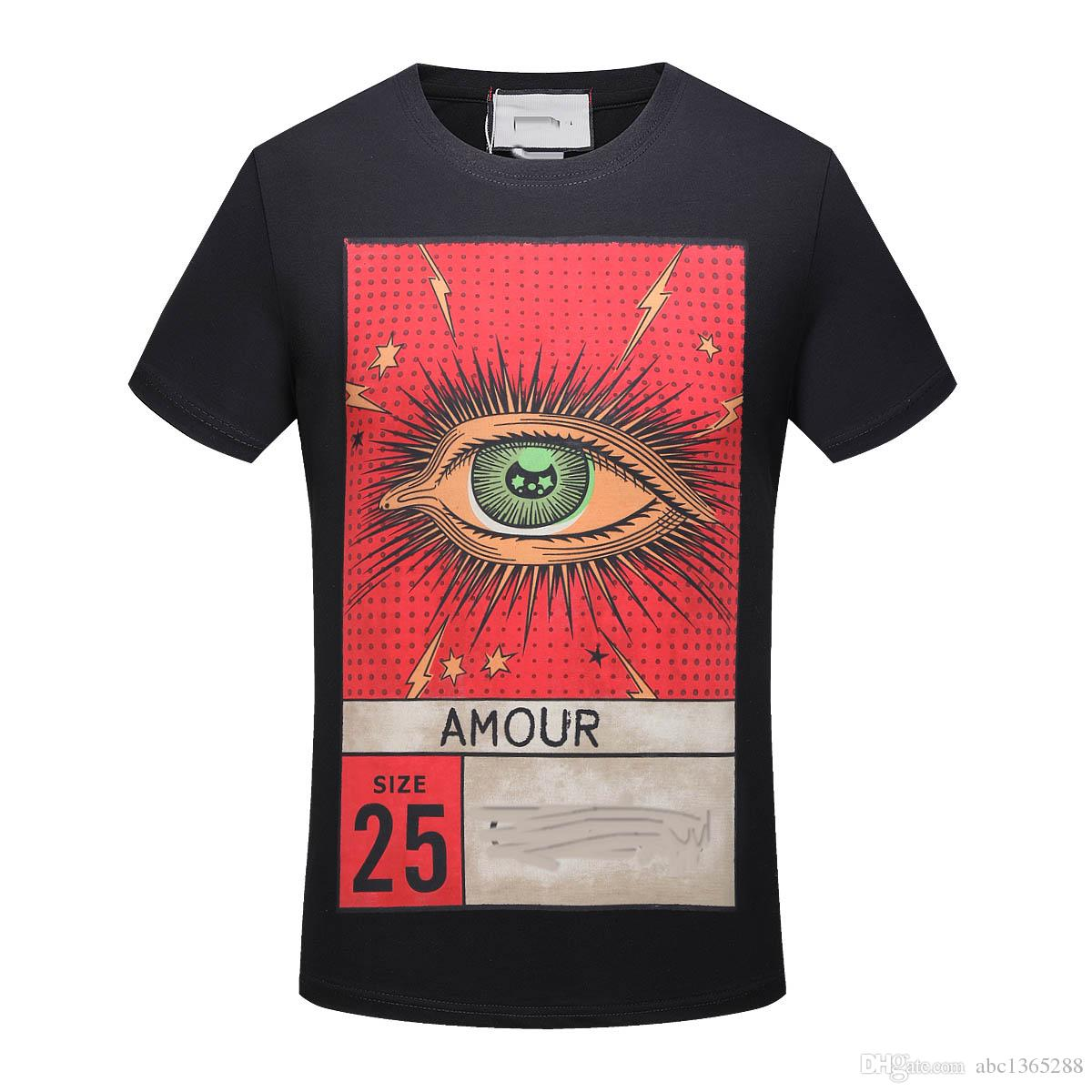 18ss Summer Street Wear Europe Paris Fashion Men High Quality Big Broken Hole Cotton Tshirt Casual Women Tee T Shirt S 2xl