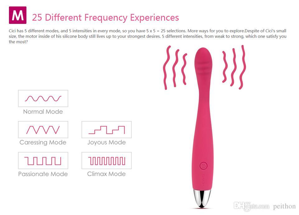 SVAKOM CICI Erótico Silicone G Spot Vibrador flexível Massageador de dedo vibrador impermeável recarregáveis Dildo Sex Toys para Mulher