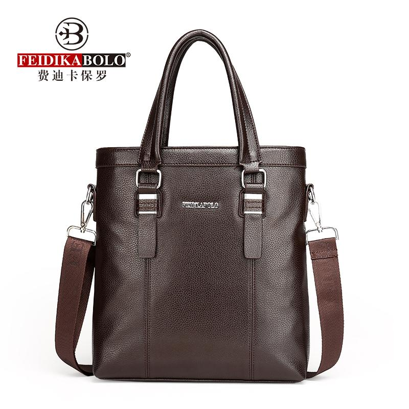 FEIDIKABOLO High Quality Men's Handbag New Fashion High-Capacity Business Computer Bag Leisure Personality Briefcase