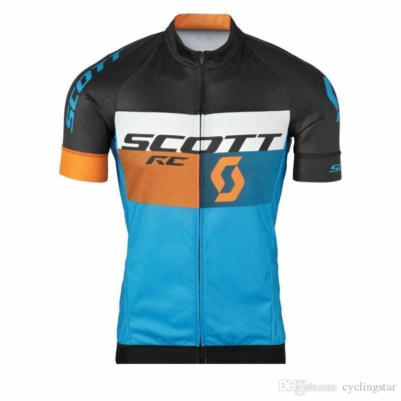 SCOTT Cycling Jersey 2018 New Mountain Bike Shirts Men s Maillot ... f1f1b600f
