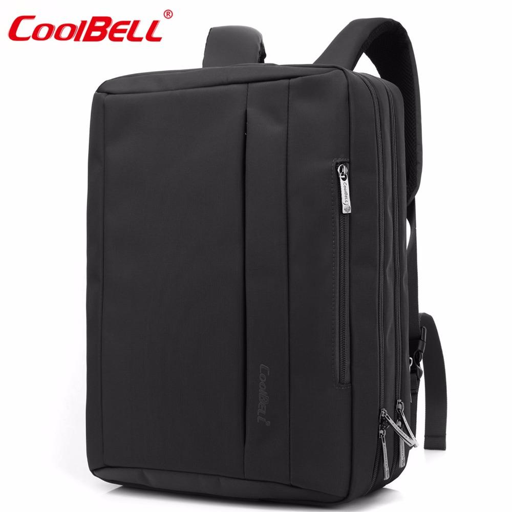 d8bbda9f59b4 2019 CoolBELL 15.6 Inches Convertible Laptop Messenger Bag Shoulder Bag  Backpack Oxford Cloth Multi Functional Briefcase For  Macbook From  Suansong
