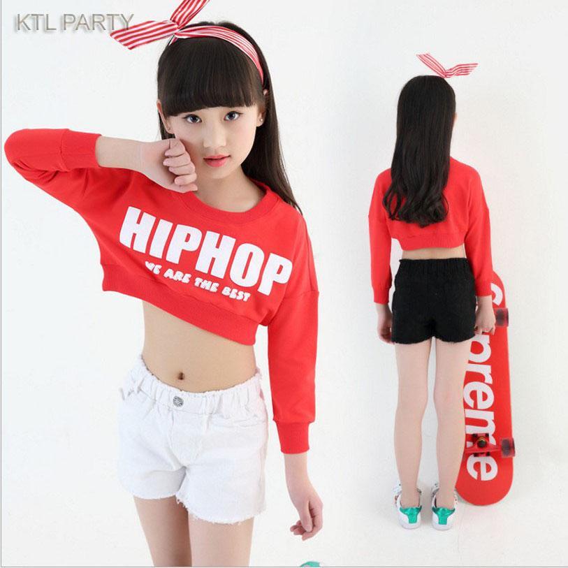 6639b1aca6fd0 Compre KTLPARTY Rojo Negro Blanco Niños Adulto Niña Niño Funcionamiento Hiphop  Hip Hop Jazz Moderno Traje De Baile Traje Pantalones Cortos Pantalones  Cortos ...