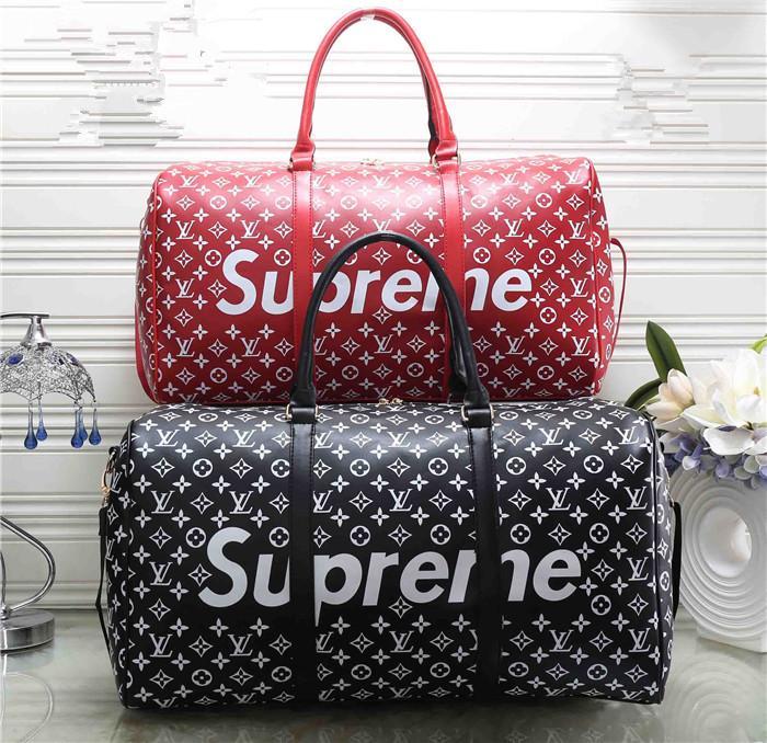 81f1a5d382 2018 Fashion Men And Women Large Capacity Handbag Alphabet Stitching Zipper  Bucket Travel Bag Personalized Sports Bag Brands Mens Shoulder Bags Fashion  Bags ...