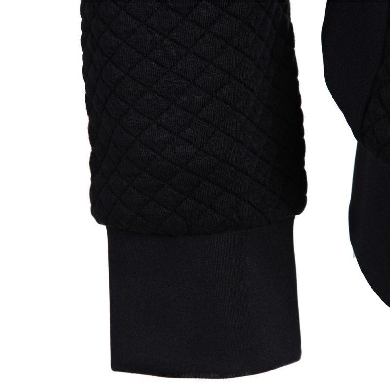 Новый Бренд 2017 Зимняя Куртка Мужчины Бейсбол Воротник Trend Молния Slim Fit Высококачественные Повседневные Мужские Куртки И Пальто 2 Цвета M-XXL