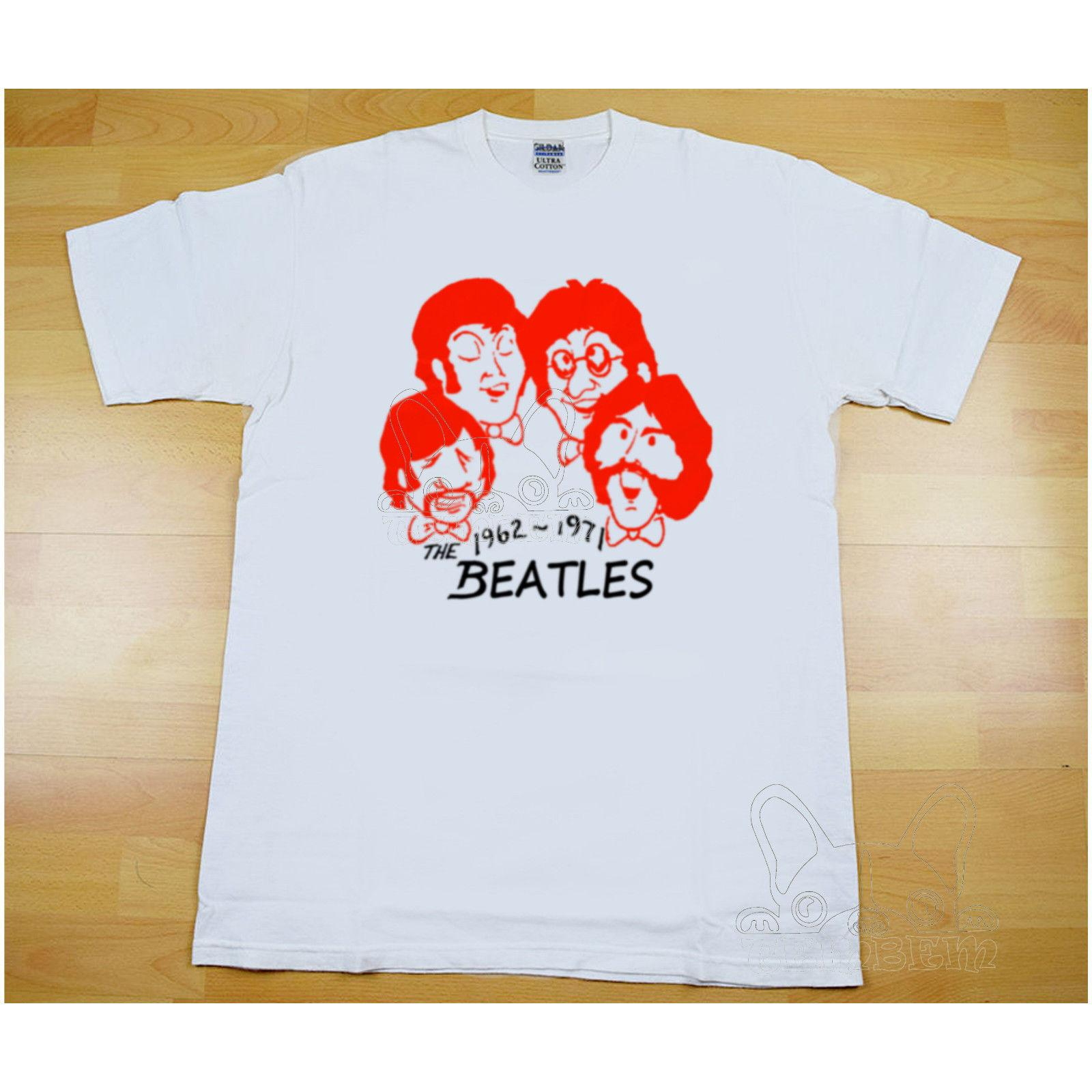 9866ee3fe4 VINTAGE 70s THE BEATLES T Shirt John Lennon Rock Tour Concert REPRINT New  High Quality T Shirt Summer Style Awesome T Shirts Cotton Shirts From ...