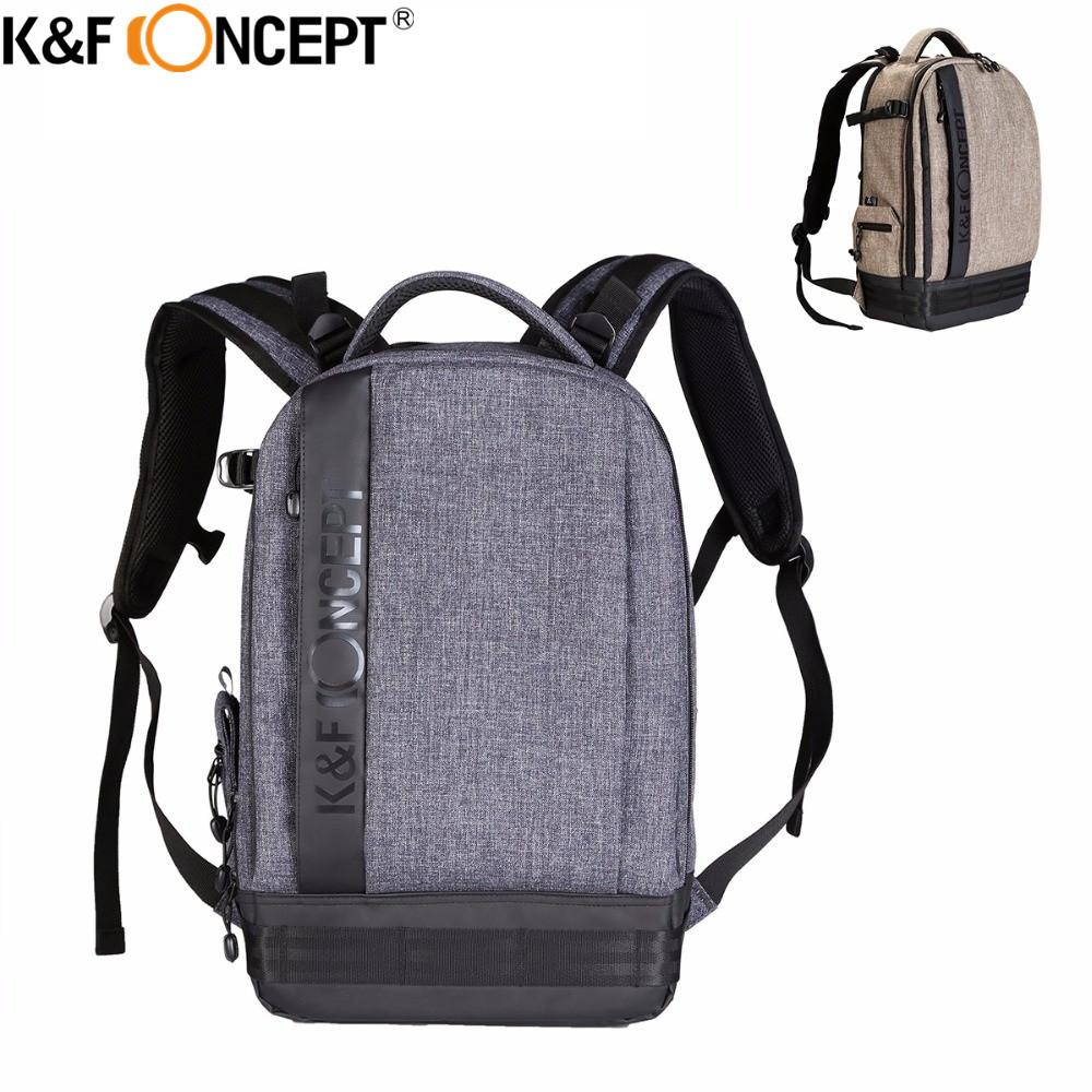 75abca6fbb 2019 K Amp F CONCEPT Waterproof Nylon Camera Backpack L Big Size Hold 1  Camera+6 Lens With Adjustable Straps For Canon Nikon Sony DSLR From  Shuokai003