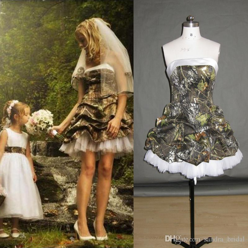 Camouflage Short Bridal Dresses