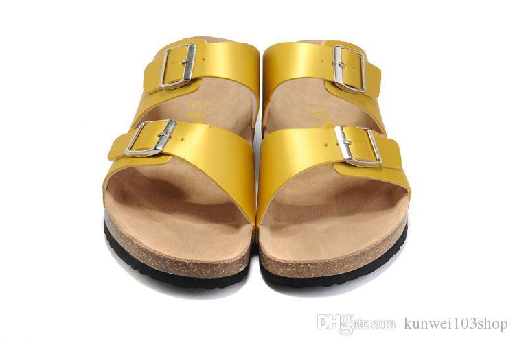 2018 Arizona Women And Men Cork Sandals Flat Sandals Platform ... 380565212027