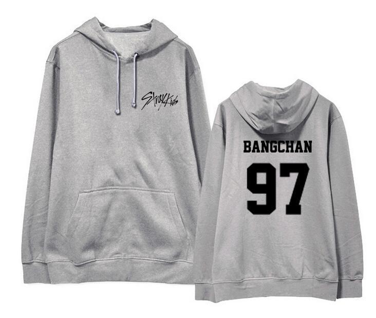Straykids member name and birthday supportive printing pullover hoodie kpop  unisex loose fleece sweatshirt autumn winter