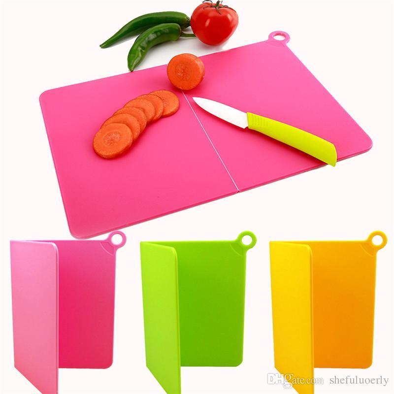 Compre Tabla De Cortar Plegable Estera De Corte De Plástico Cocina ...