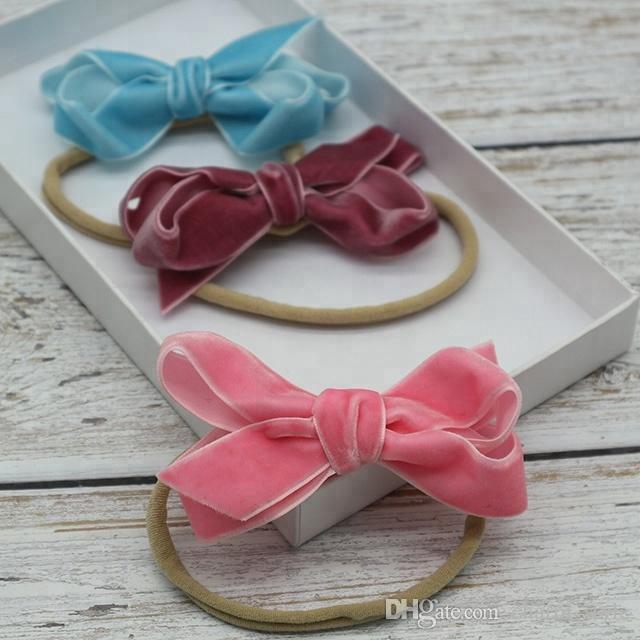 Beautiful Pink Diamante Round Shaped Elastic Bobble Ponytail Hair Band
