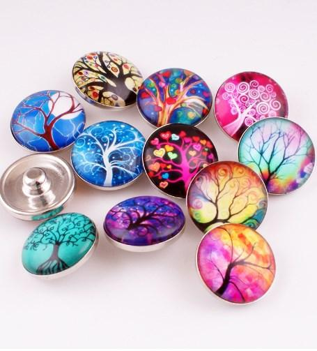 2018 HOT selling Magic unicorn galss Snap button Charm Popper for Snap Jewelry picture pendant