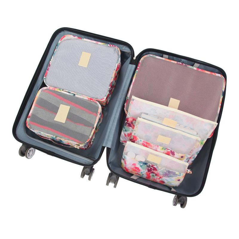 f14c47371156 6 Pcs/Set Travel Bags Woman Packing Cube Portable Clothing Underwear  Sorting Organizer Luggage Accessories Supplies Products Lot