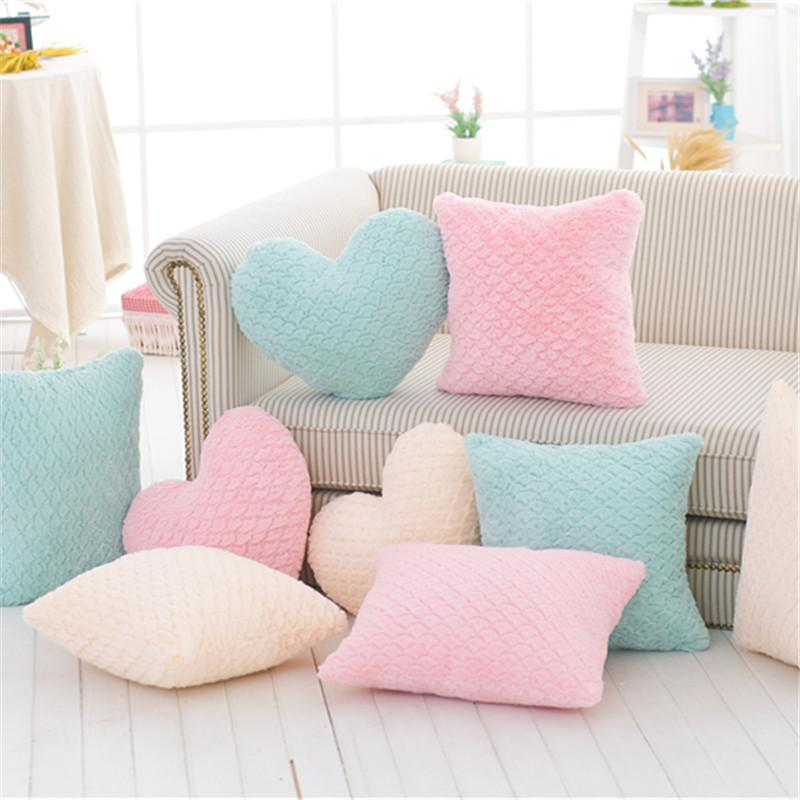 Pillow Heart Shape Cushion Romantic Umbrella Carved Stuffed Plush