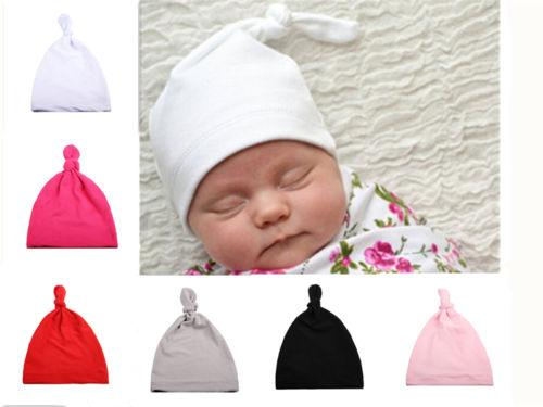 Cotton Beanie Newborn Baby Knotted Hat Boys Girls Soft Cap Infant Toddle UK  2019 From Beasy cd3bb62a46b