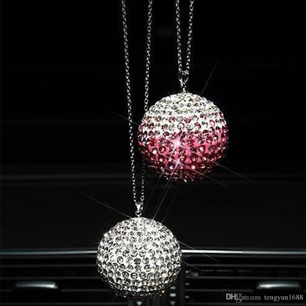 chic light ball pendant round pin lamp crystal hanging lily