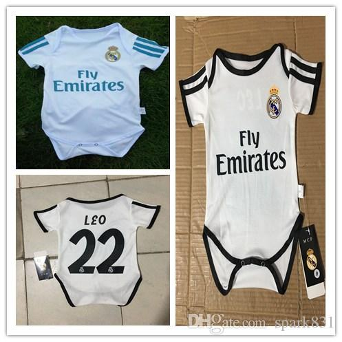 7cf62d34b 2019 Kids 17 18 19 Real Madrid Baby Soccer Jersey Short Sleeved Jumpsuit  Baby Triangle Climb Clothes Loveclily Modric RONALD0 MBAPPE Baby Jerseys  From ...