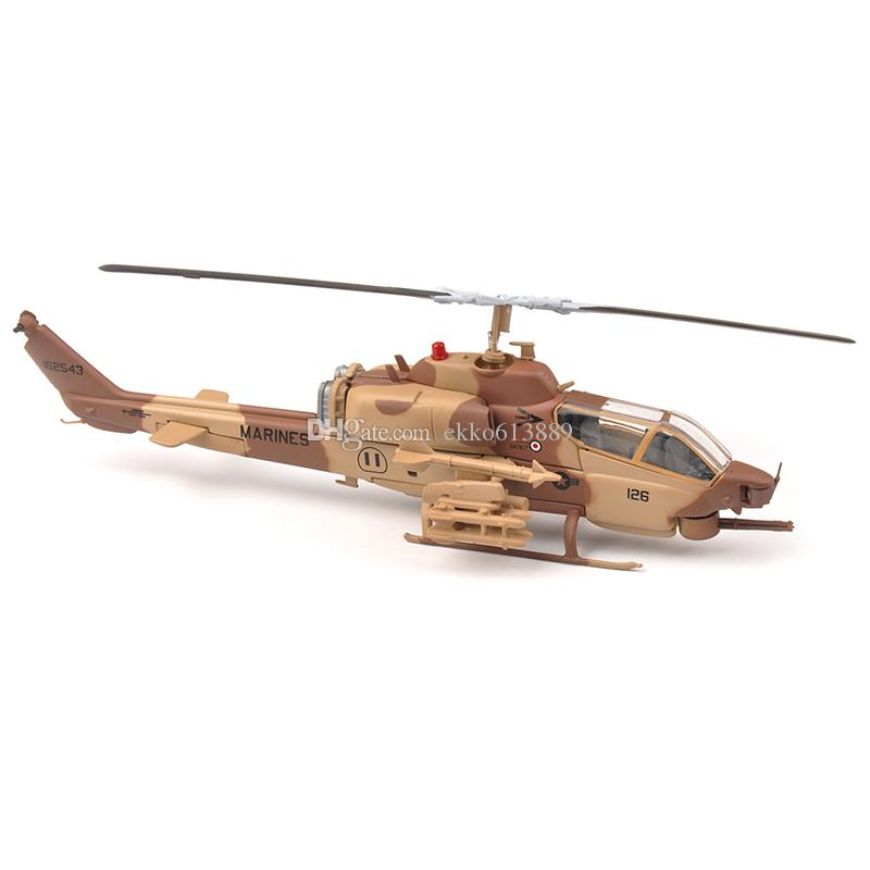 1:72 MARINES AH-1W Super Cobra Armed Helicopter Aircraft model IXO Collectable Helicopter Toy Model Birthday gift Christmas gift for Ch