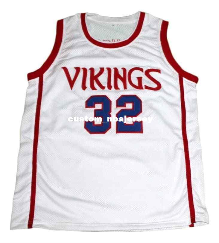 new concept 5ca0d 1f71e wholesale Johnson #32 Vikings High School New Basketball Jersey White  Stitched Custom any number name MEN WOMEN YOUTH BASKETBALL JERSEYS