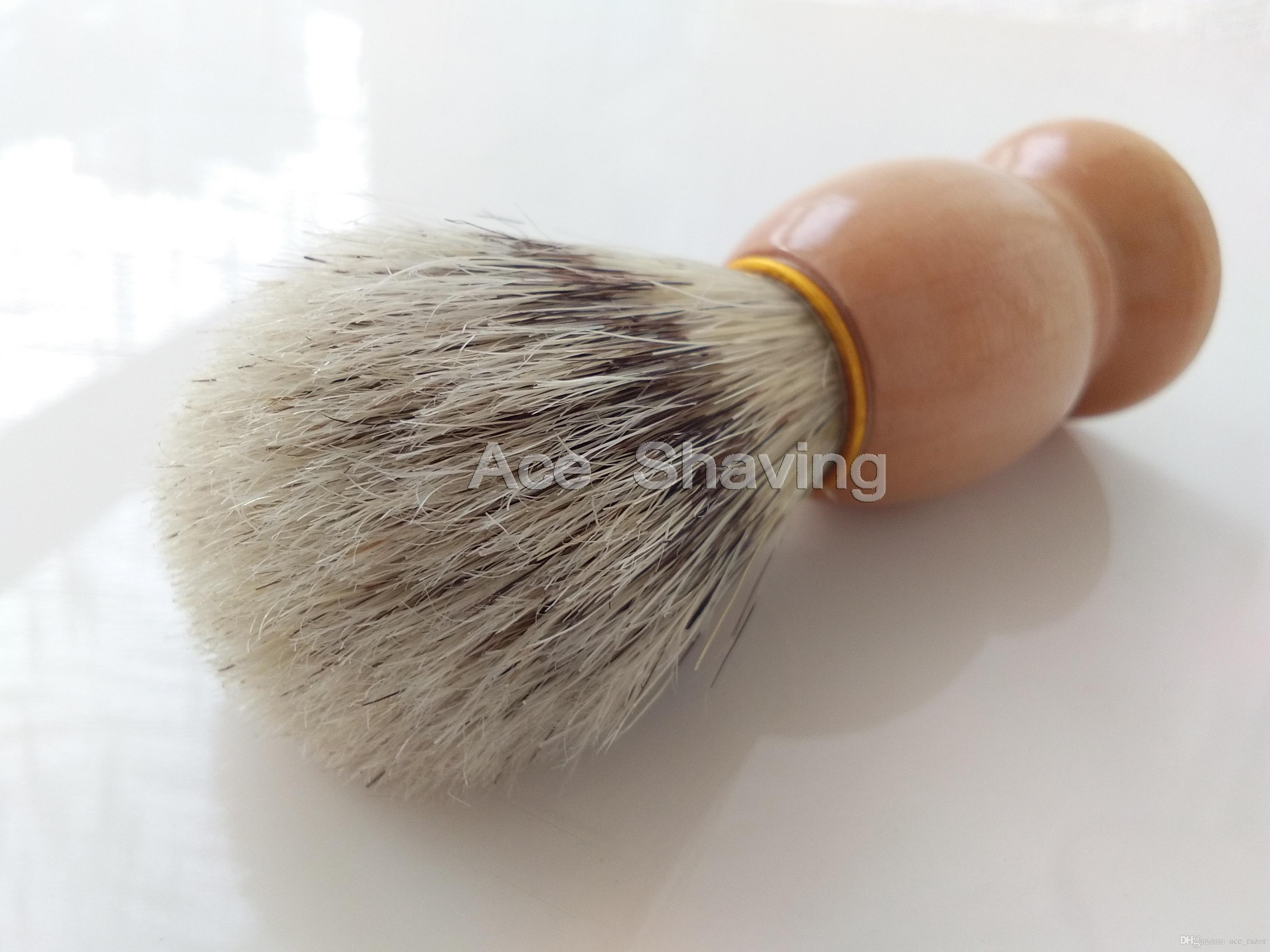 30 Stück Faux Badger Color Boar Borstenhaar Holzgriff Rasierpinsel Bart Rasierer