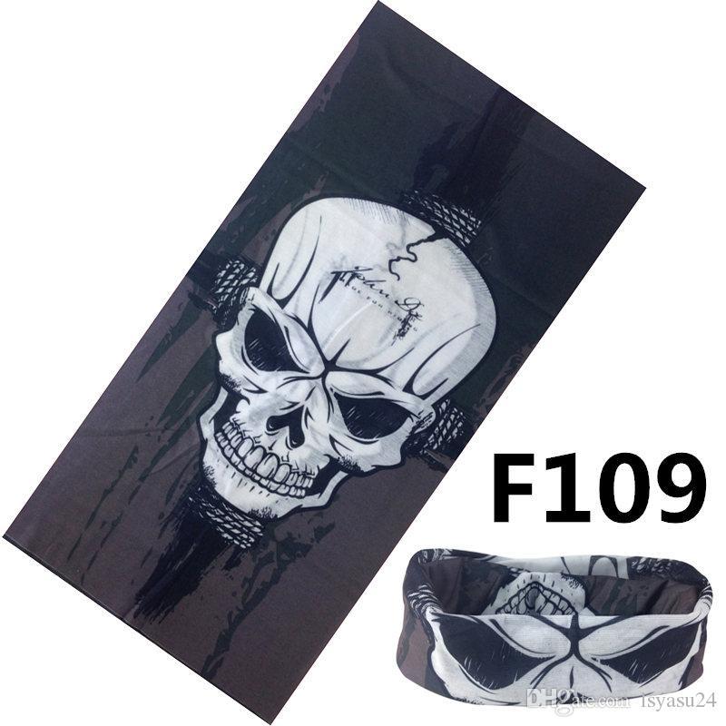 Magia poliestere bandana microfibra copricapo tubolare senza giunte del tubo del hijab Sport maschera sciarpa fascia fazzoletto da moto 25 * 48 cm