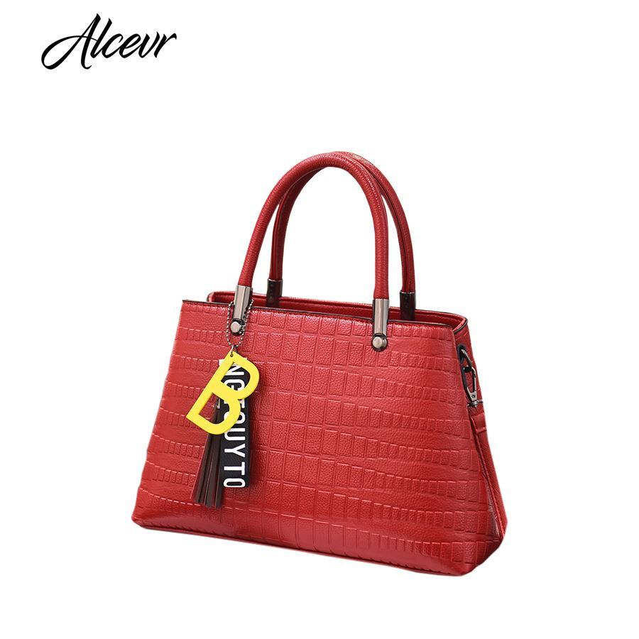 ALCEVR Versatile Female Designer Women Shopping Hand Bag PU Leather Tassel  Women Shoulder Bag Crossbody Bolsa Feminina Cheap Purses Handbags For Women  From ... e0a0486263d71