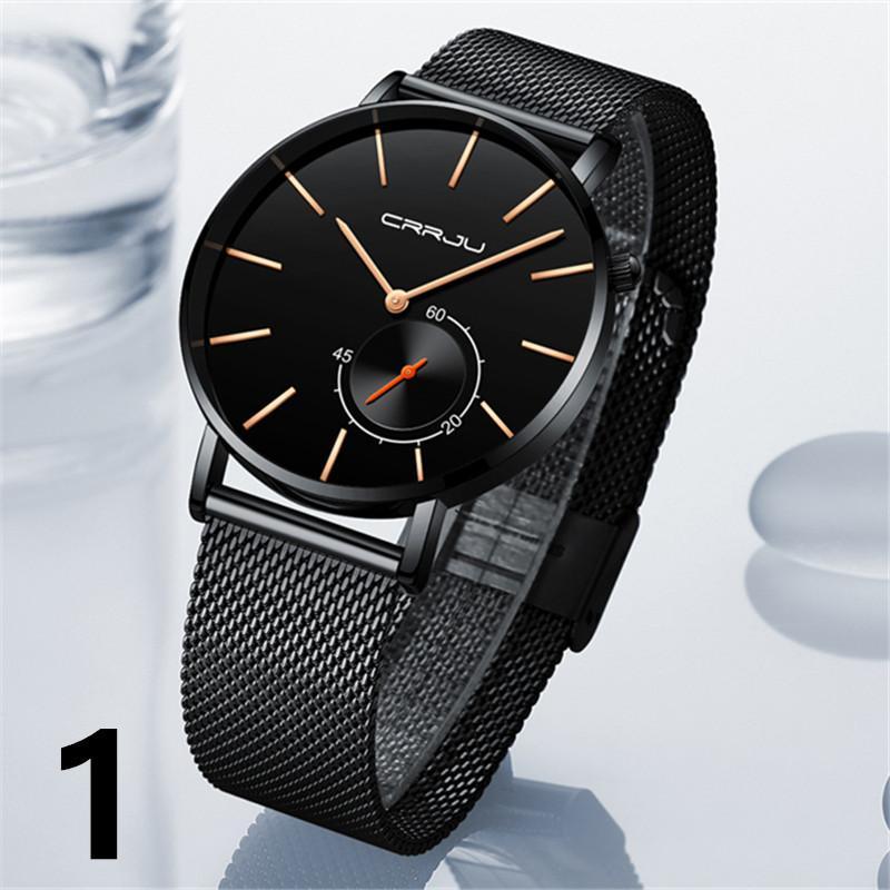 69d150a3e18 Compre Assistir Relógios Masculinos CRRJU Masculino Marca De Luxo Relógios  De Quartzo Casuais Malha De Aço Inoxidável Relógio Ultra Fino Relog Relógio  De ...