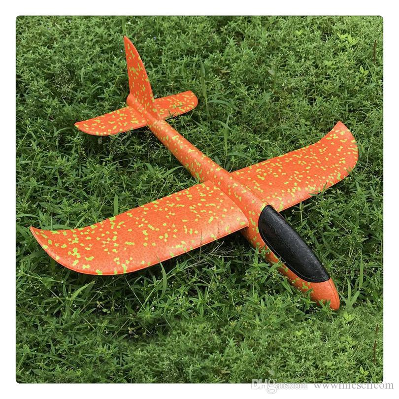 48cm Flying Toy Foam Throwing Glider Air Plane Inertia Aircraft Toy Hand Launch Airplane Model for Kids Children Boy Girl as Gift