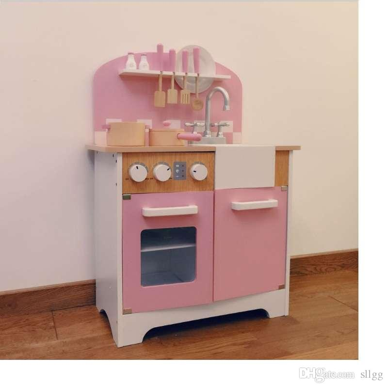 2018 Kitchen Toy Wooden Kitchen Table For Children Natural Water Based  Paint, Holland Pure Wood, No Burr, Smooth And Round. From Sllgg, $30.16    Dhgate.Com
