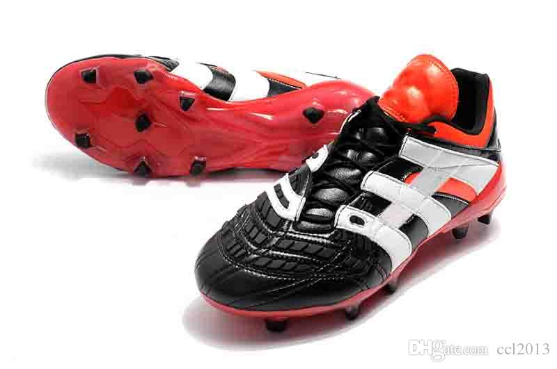 2019 2018 New Cheapest Mens Black White Soccer Cleats Predator Accelerator  Electricity FG Outdoor Soccer Shoes Messi Football Boots From Ccl2013 ed402787cc6