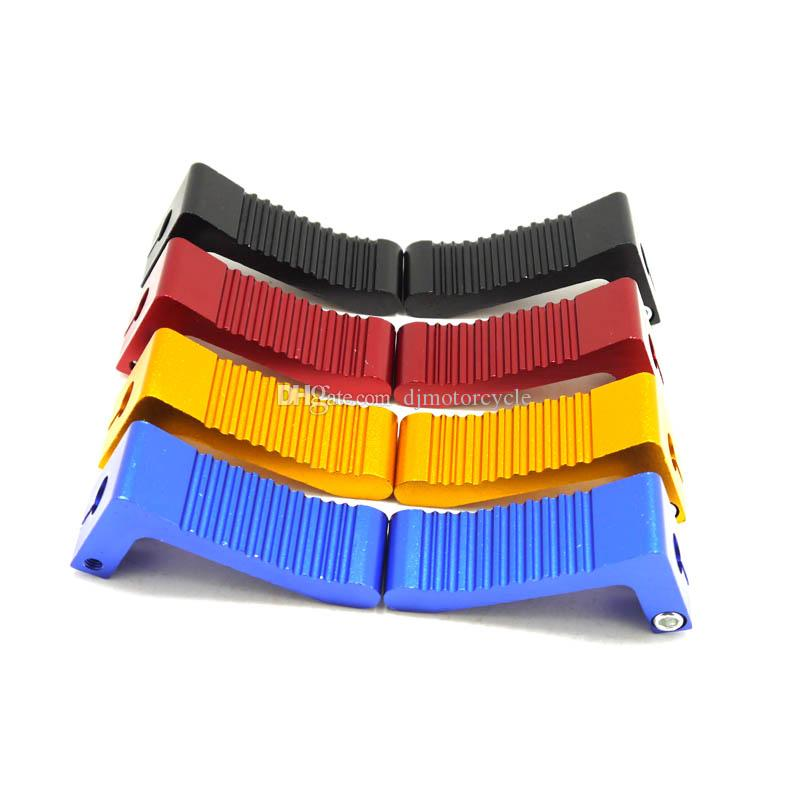 Aluminum Alloy Footpegs Foot Rests Pegs Red for 47cc 49cc 2 Stroke ATV Quad Pit Dirt Pocket Mini Motor Bike Motorcycle Minicross Blue Black