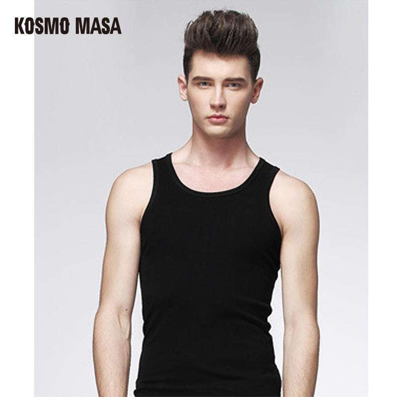 c66573aaee 2019 KOSMO MASA 2017 Men'S Cotton O Neck Tank Tops Bodybuilding Undershirt Summer  Sleeveless Tops White/Black/Gray Vest MC0055 2016 From Toto9, ...