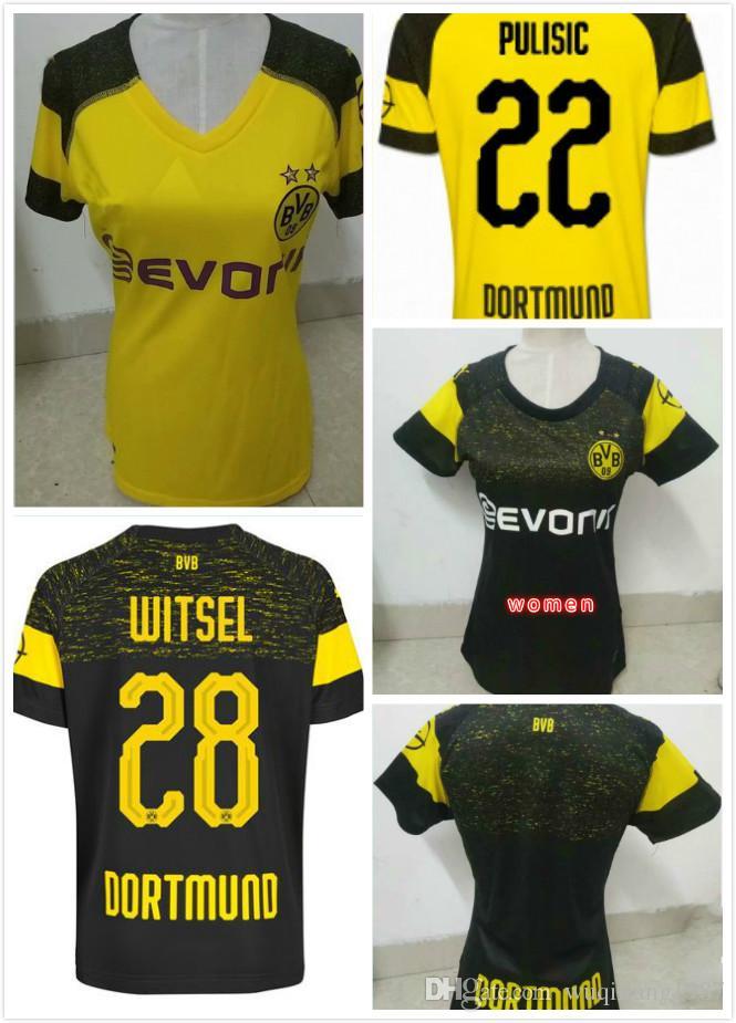 315a535bc02cf Compre Alta Qualidade BVB Borussia Dortmund Feminino Camisa De Futebol 2019  GUNDOGAN YARMOLENKO M.GOTZE REUS PULÍSTICO BATSHUAYI 18 19 Camisa De  Futebol Das ...