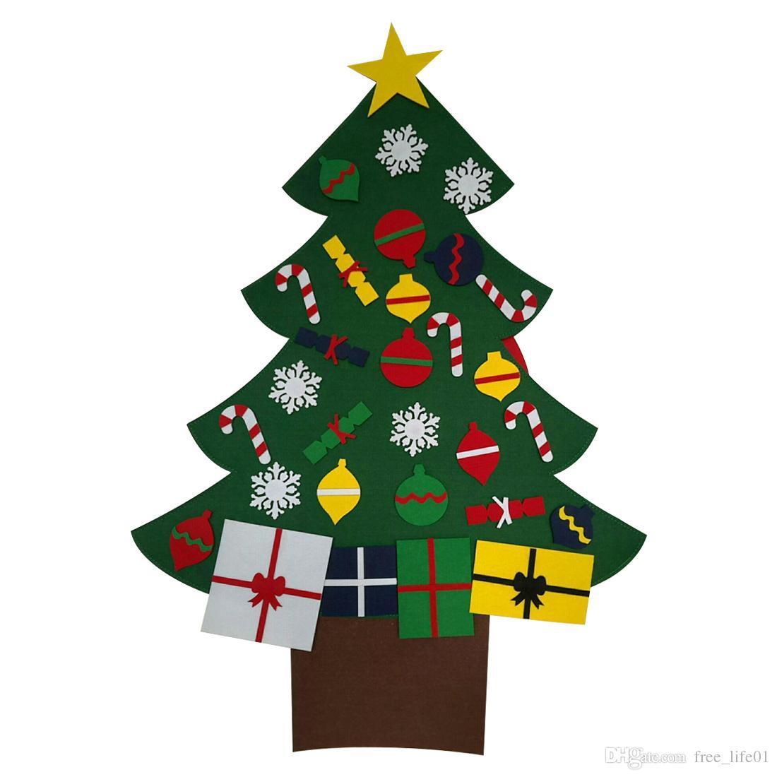 Compre 2018 nuevo bricolaje est reo fieltro rbol de - Decoracion de navidad para ninos ...