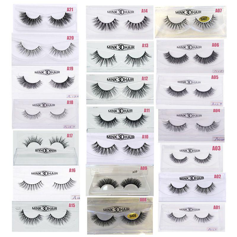 5878ea76606 3D Mink Eyelashes Eye Makeup Mink False Lashes Soft Natural Thick ...
