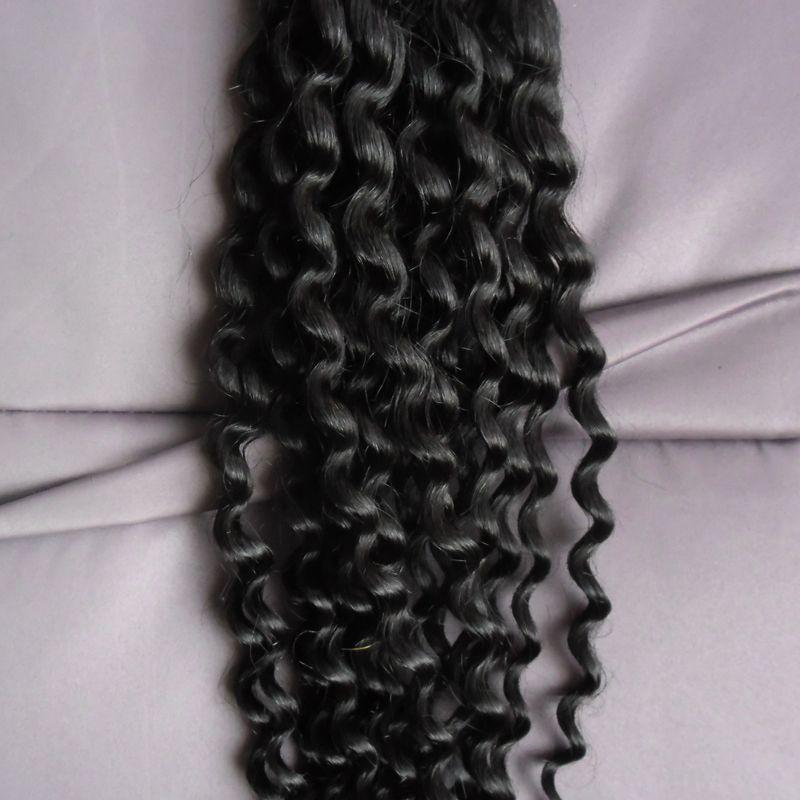 100g I TIP Human Hair Extension #1 Jet black Keratin Fusion Pre Bonded Nail Tip Hair Extension 1g/strand