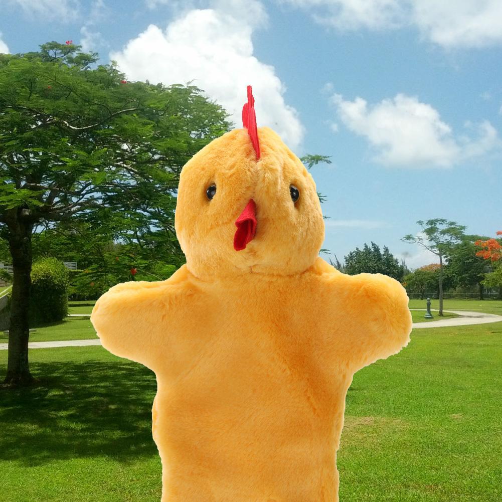 Nette Tierhandpuppe Reizender Hahn-Henne-Handpuppe-Kinderbevorzugungs-Stadiums-Spiel-weicher Plüsch-Puppen-Spielzeug-Baby-Schlaf-Geschichten-Marionette