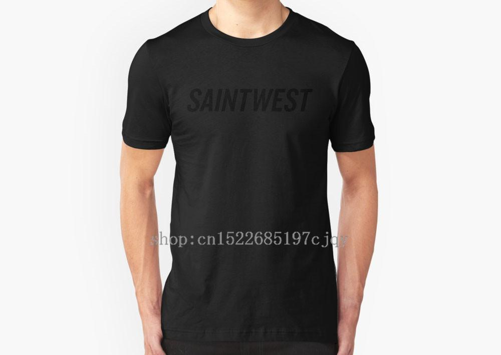 2018 New Fashion SAINTWEST Homme T-shirt à manches courtes en coton T-shirt