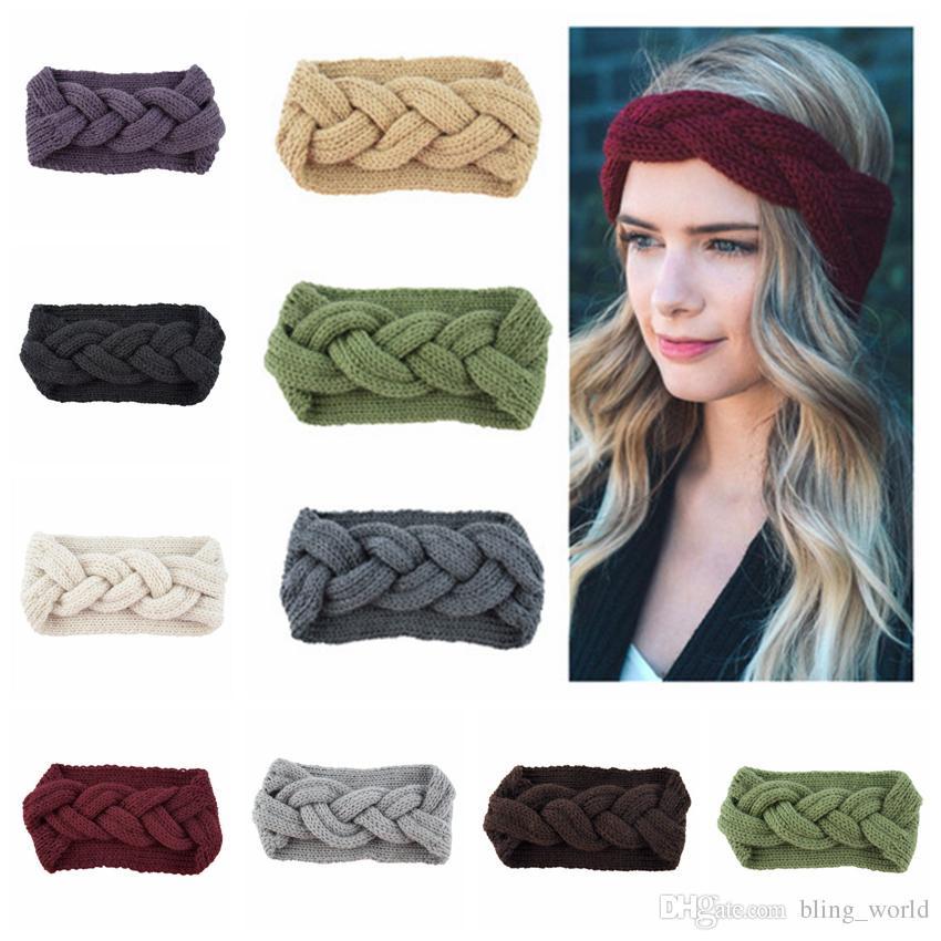 Knitting Twist Braid Hair Band Hair Earmuffs Hand Woven Headband Warm  Autumn Winter Headband Fashion Hair Accessories LDH219 Kids Hair  Accessories Baby Hair ... fe6edff816fe