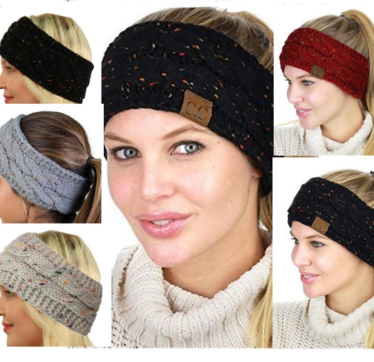 CC Knitted Headband Women girls Winter sports Headwrap Hairband ... d79a53b29