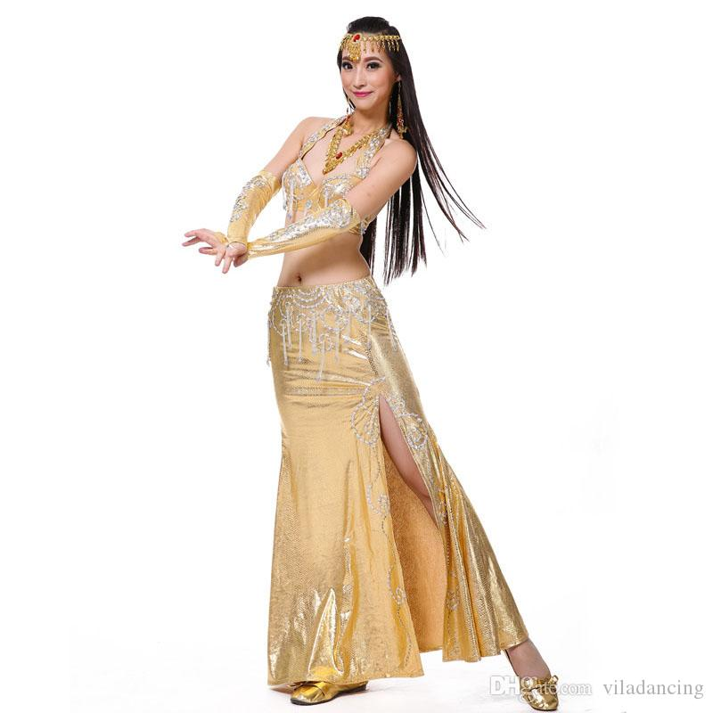 d94fca01db5c Belly Dancing Costume  Suit Bra Skirt 2018 New Arrival Belly Dance ...