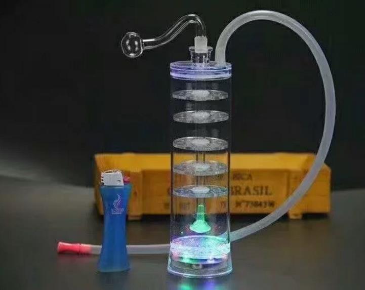 Мульти фильтр акриловые кальян Оптовая бонги масляная горелка трубы водопровод стеклянные трубы нефтяные вышки курение, Бесплатная доставка