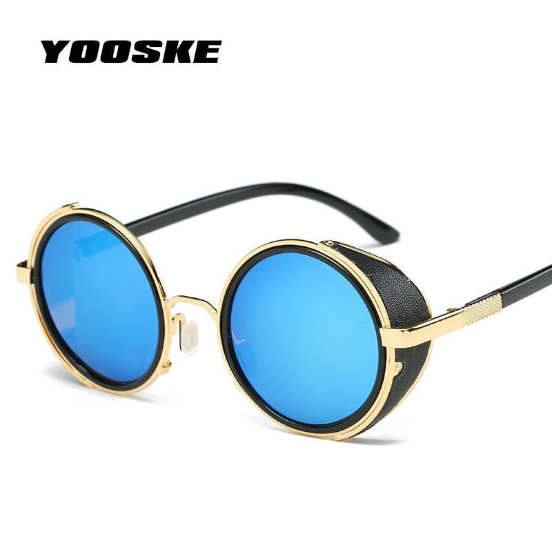 d07b8ccad497b Compre YOOSKE Steampunk Óculos De Sol Das Mulheres Dos Homens Do Vintage Do  Punk Óculos De Sol Retro Óculos De Sol Óculos De Sol Para Homens De Design  Retro ...