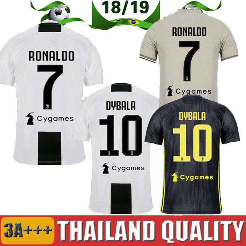 huge discount 2332e d825e AAA+new RONALDO JUVENTUS Soccer Jersey 18 19 JUVE Cuadrado DYBALA HIGUAIN  Football Shirt CRISTIANO MANDZUKIC Team Uniform Team