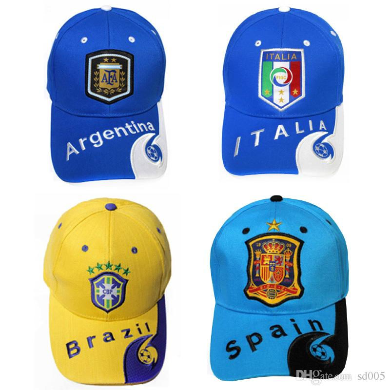 Compre 2018 Russia World Cup Theme Cap Bordado Country Team Symbol Caps  Deportes Gorras De Béisbol Ajustables Para Hombres Y Mujeres 12 5yb Z A   3.33 Del ... b898ec41d7d