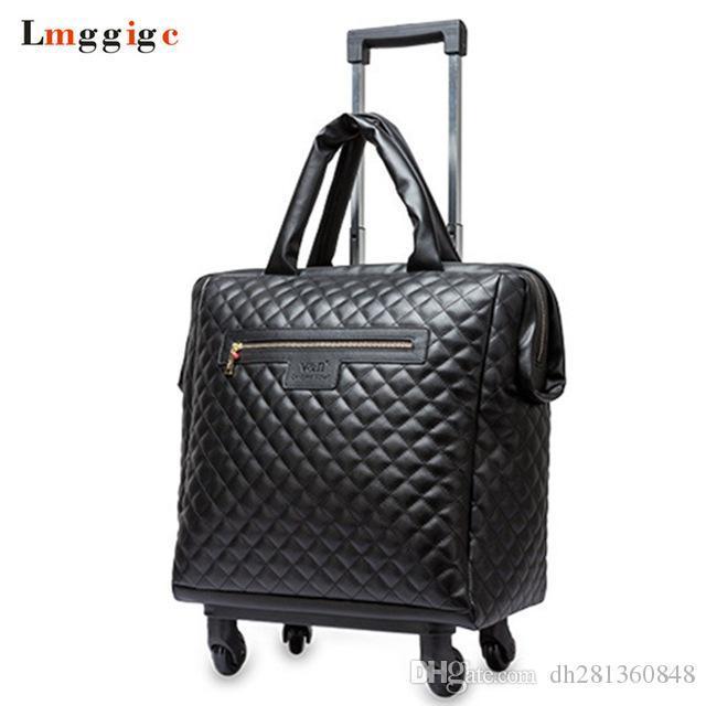 1d201d46bba4 Women 18 Inch Cabin Travel Rolling Luggage Bag