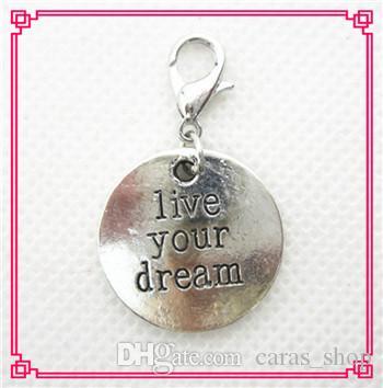 Sıcak satış 50 adet / grup infinity dangle charms istakoz kapat charms DIY bilezik kolye asılı charms DIY takı aksesuar