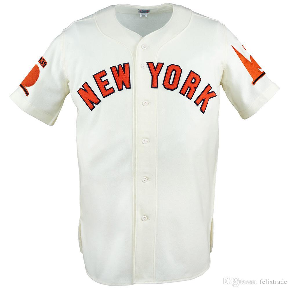 New York World's Fair 1938 Home Jersey Double Stiched Name & Number & Logos Baseball Jersey For Men Women Youth Customizable