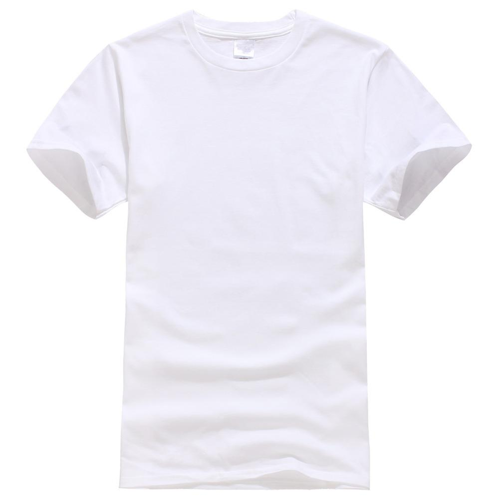 2018 New Solid Color T Shirt Mens White 100 Cotton T Shirts Summer